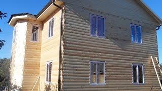 Строительство деревянного коттеджа из бруса(, 2010-11-13T16:17:26.000Z)