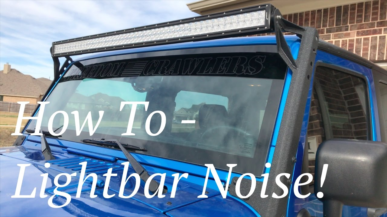Light Bar Noise Hum How To Get Rid Of That Obnoxious Led Lightbar Hum Youtube