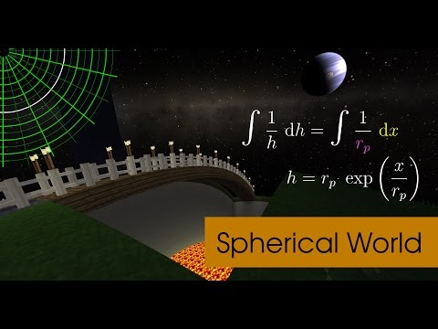 How to make the Minecraft world look spherical