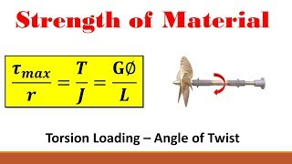 Strength of Materials (Part 11: Application of the General Torsion Equation)
