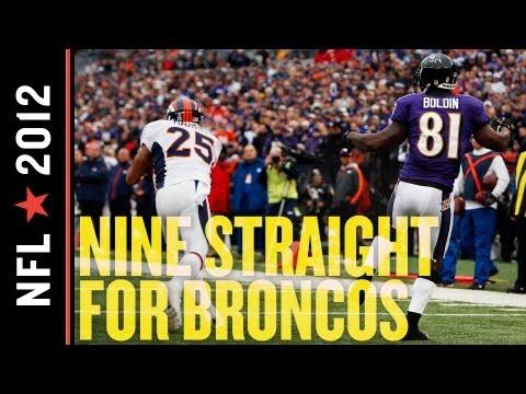 Broncos vs Ravens 2012: Denver Wins Ninth Straight with 34-17 Beatdown of Baltimore