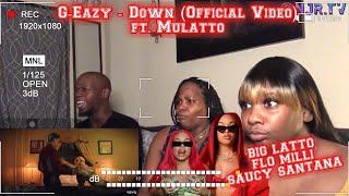 OK BIG LATTO! 🔥 | G-Eazy - Down (Official Video) ft. Mulatto | REACTION|