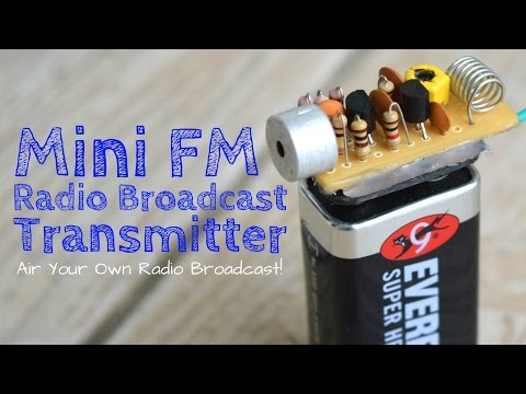 Build A Long Range FM Transmitter (Spybug)