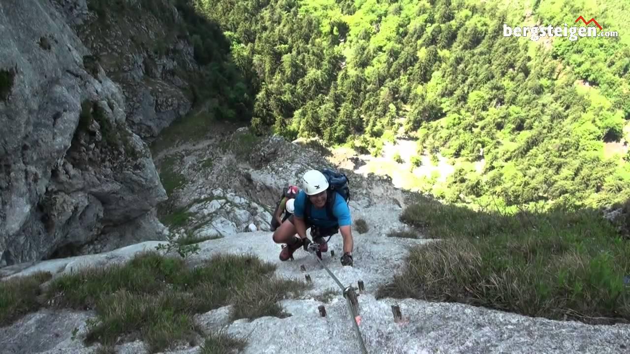 Klettersteig Rating : Attersee klettersteig mahdlgupf youtube