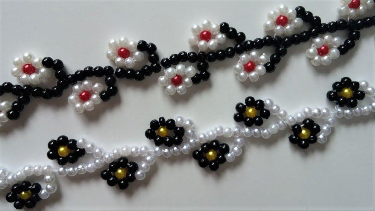 Floral Bracelet Tutorial Easy Beading Pattern For