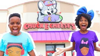 24 HOURS AT CHUCK E CHEESE GAMES?! - Onyx Kids