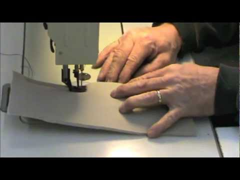 How to sew a french seam in leather