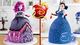 DESCENDANTS 2  Evie & Mal Doll Cakes  Tan Dulce