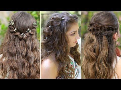 3 Easy Boho Prom Hairstyles Half Up Compilation