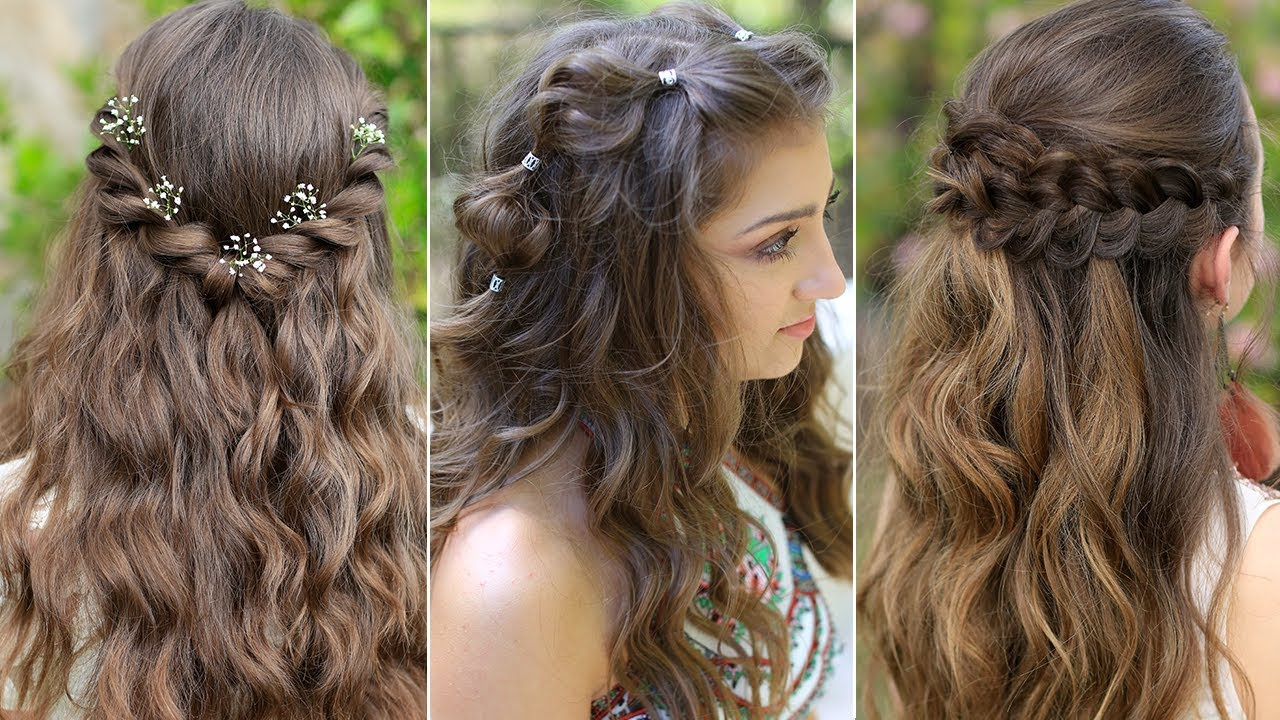 3 Easy Boho Prom Hairstyles Half Up Hairstyles