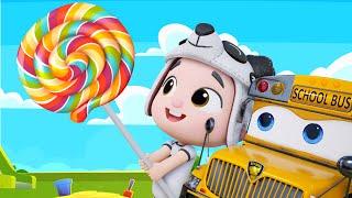 Five Little Ducks Car Version | Wheels On The Bus | Kids Pretend Play #appMink Kids Song & Nursery