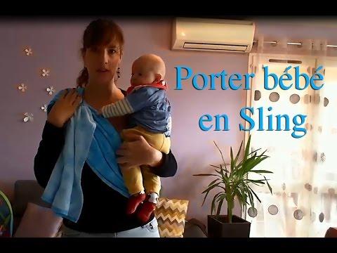 4c4bc21d595 TUTO Comment porter bébé en sling (vrai bébé 4 mois) - YouTube