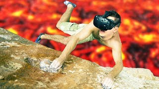 Climbing Over the Lava Pits! - Climbey Gameplay -  VR HTC Vive