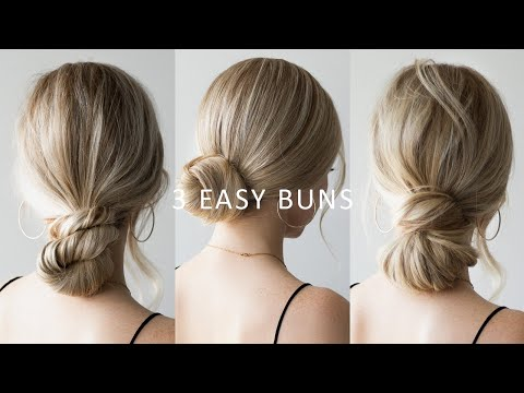 HOW TO: 3 EASY Low Bun Hairstyles 💕 Perfect for Prom, Weddings, Work