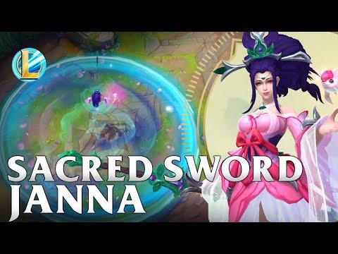 Sacred Sword Janna Skin Spotlight - WILD RIFT
