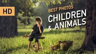 Лучшие 35 детские фотографии по теме:  Дети и Животные