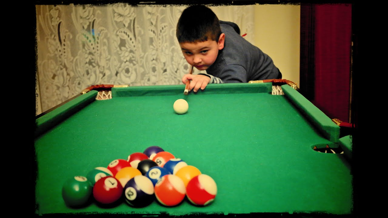 4 Year Old Kid Play Pool Prodigy Youtube