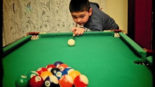 4 Year Old Kid Play Pool Prodigy