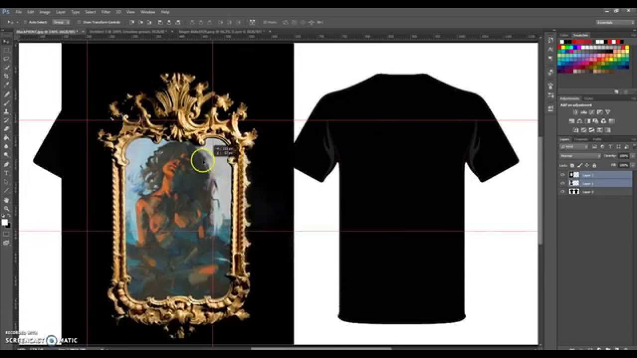 How To Design A T Shirt On Adobe Photoshop Cc 64 Bit