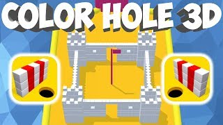 COLOR HOLE 3D GAMEPLAY FIRST LEVELS (1-20) (iOS | ANDROID)