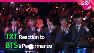 [Reaction Cam] TXT(투모로우바이투게더) Reaction to BTS(방탄소년단) l 2019MAMA x M2