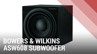 B&W ASW608 Powered Subwoofer - Quick Review India