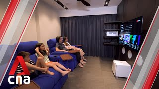 Making Room: A mini-movie theatre inside a 990 sq ft BTO flat | CNA Lifestyle