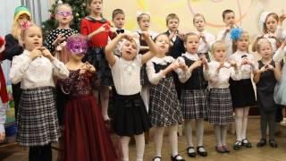 1А класс - открытый урок по музыке, школа №615 - 23.12.2016 г.