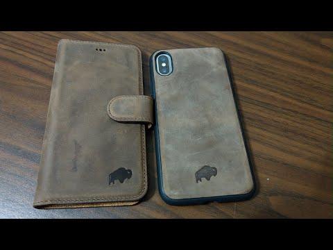 iPhone X BURKLEY Premium Leather Wallet Case!