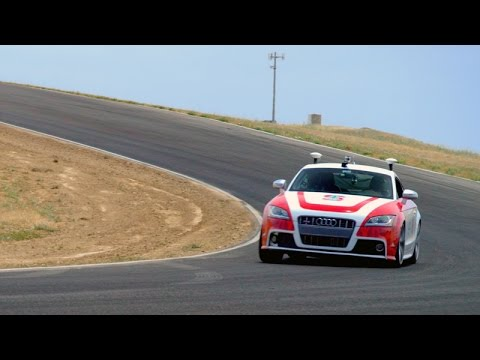 Stanford's autonomous car, Shelley, speeds around track without driver