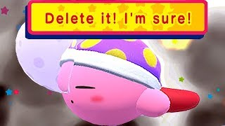 Game Over Screen + This Is What Happens When You Delete Your Save File in Kirby Star Allies