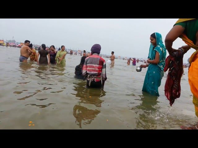 Kumbh Mela 2013 - Women taking holy dip