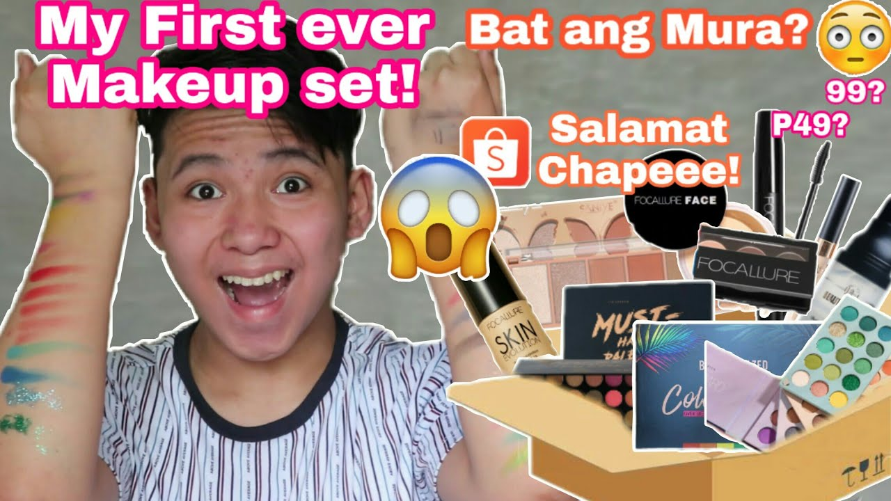 Murang Makeup sa Shopee!! SULIT NGA BA? Makeup Haul + Slight Review!!!!