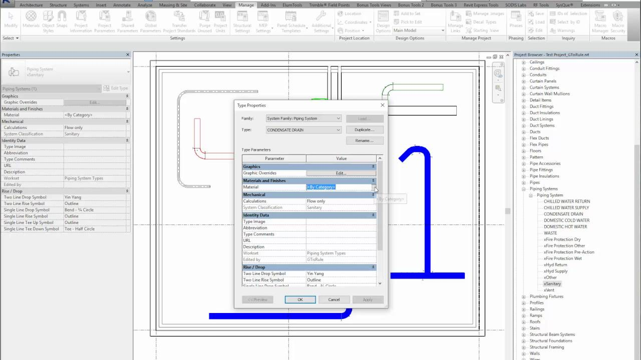 HowTo - Create a new piping system in Revit