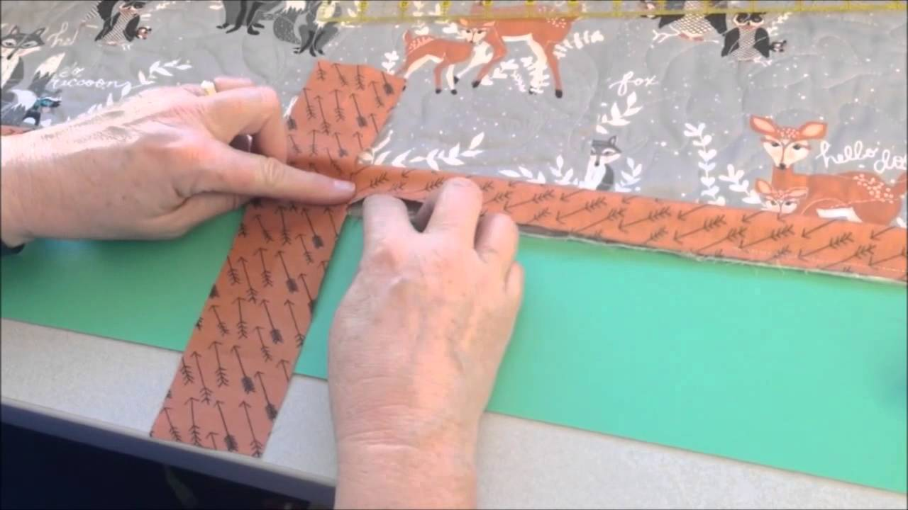 How to Join Your Quilt Binding Ends - YouTube : joining quilt binding - Adamdwight.com