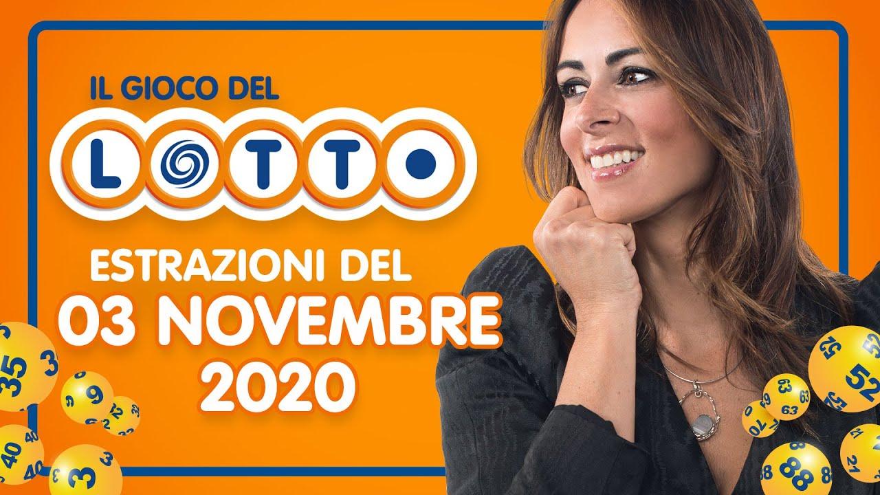 Novembre 2020 Estrazioni Del Lotto Di Oggi, Estrazioni ...