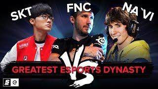 LoL (SKT) vs CS:GO (Fnatic) vs Dota 2 (Na'Vi): Who has the greatest esports dynasty?