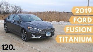 2019 Ford Fusion Titanium with AWD // review, walk around, and test drive // 100 rental cars