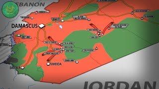 11 июля 2017. Военная обстановка в Сирии и Ираке. Армия теснит силы США в Сувейде. Русский перевод.