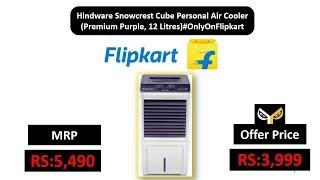 Hindware Snowcrest Cube Personal Air Cooler (Premium Purple, 12 Litres)#OnlyOnFlipkart