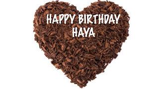 Haya  Chocolate - Happy Birthday