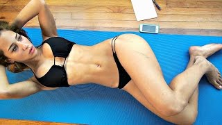 15 Minutes Crunches!! Sexy Bikini Models Ab Workout!!