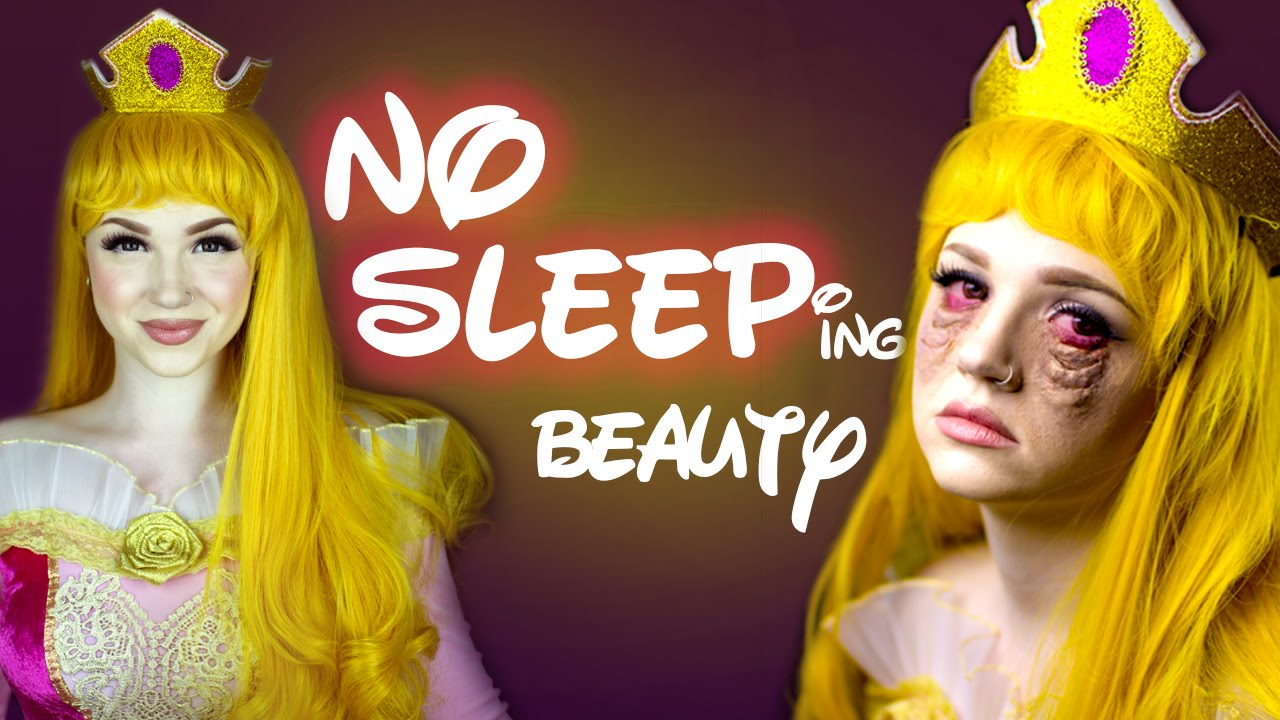 No Sleeping Beauty Makeup Tutorial Glam Gore Disney Princess - Gore-makeup