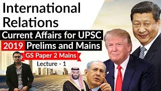 International Relations Current Affairs 2018-19 Lecture 1 - UPSC Prelims 2019 & GS Mains Paper 2