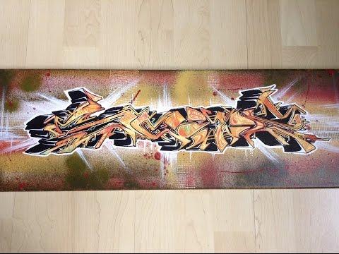 "Graffiti Wildstyle Canvas: Evil Lurks Project ""SCIZ"""