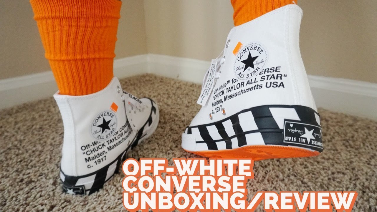 Off White Converse Chuck Taylor Review & On Feet YouTube