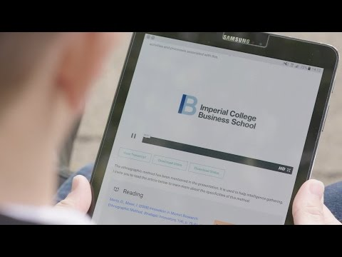 Global Online MBA at Imperial College Business School