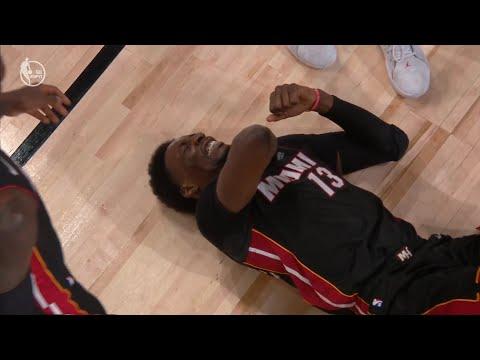 Bam Adebayo Injures His Shoulder Driving into Dwight Howard