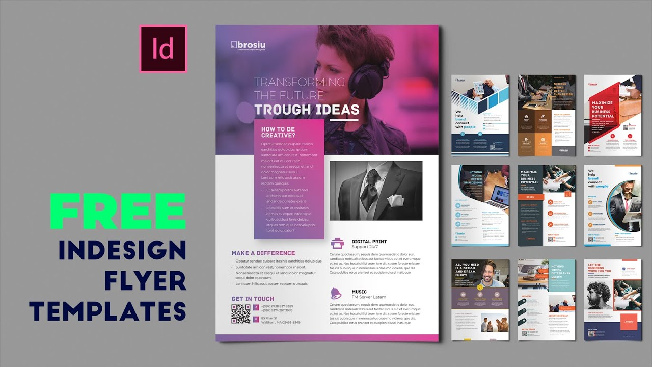 Template pack for flyers in adobe indesign. 10 Free Indesign Flyer Templates For Adobe Indesign Youtube