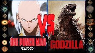 Saitama (One Punch Man) vs Godzilla (Original) - Ultimate Mugen Fight 2016